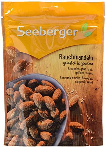 Seeberger Rauch-Mandeln geröstet, gesalzen, 12er Pack (12 x 150 g Beutel)