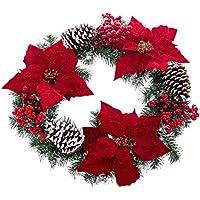 Centro de Mesa de Navidad clásico Rojo de Microfibra para decoración navideña Christmas - LOLAhome