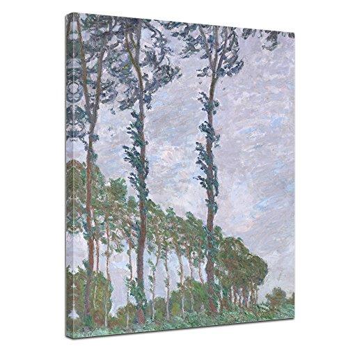 Bilderdepot24 Leinwandbild - Claude Monet - Pappel, Wind - 50x70cm Einteilig - Alte Meister - Bilder als Leinwanddruck - Kunstdruck - Leinwandbilder - Bild auf Leinwand - Wandbild