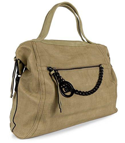 Kette Gelb Damen Apricot breit Khaki Bag Vintage Tasche Beuteltasche Lovely Handtasche Lauri XZgc1wqgH