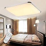 Stylehome®LED Deckenlampe Deckenleuchte Wandlampe Küchenlampen 6501-90W Silber volldimmbar mit Fernbedienung [Energieklasse A++]