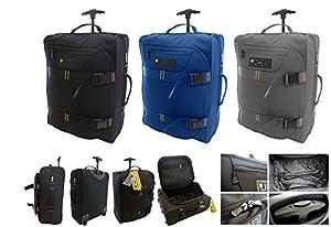 New Jcb Lightweight Wheeled Flight Cabin Travel Bag Suitcase Case Hand Luggage Holdall