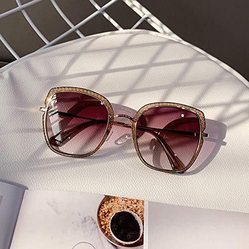 PROMISE-YZ Sonnenbrille Polarisierte sonnenbrille 100% UV 400-Schutz Modetrend-Strandsonnenbrillereise, die die Damen Retro fährt