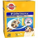 Pedigree Dentastix (Value Pack) Dental Care Dog Treat for Adult Small Breed(5-10kg) Dogs, 440 g Monthly Pack (28 Sticks)