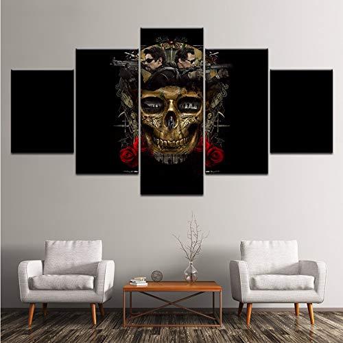 Wiwhy Moderne Wandkunst Malerei Drucken Bilderrahmen Wohnzimmer Wohnkultur 5 Panel Film Spiel Leinwand Poster,10X15/20/25Cmwiwhy