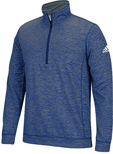 Adidas pour homme Climawarm Team issue 1/4zip manches longues Royal Heathered