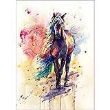 Felicove 5D Diamant Full Pferd DIY Stickerei Painting Kreuz Stich Diamond Dekoration Mehrfarbig