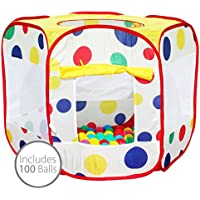 Bentley Kids Children's Pop Up Ball Pit Play Indoor Playhouse Tent Incl 100 Balls