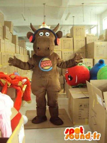 mascota-spotsound-amazon-personalizable-burger-king-carib-marrn-con-los-auriculares-rojos