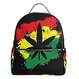 ALAZA Marijuana Cannabis Foglie zaino per la scuola Bookbag