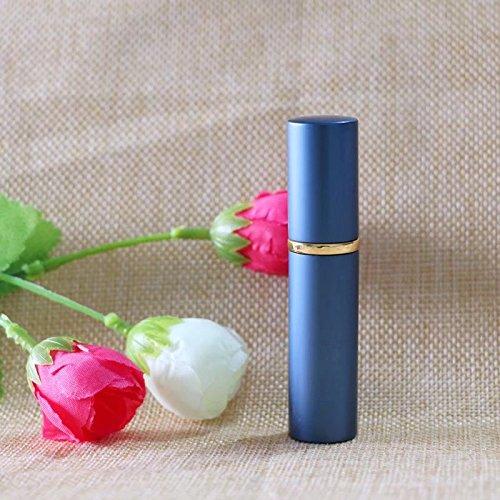 Ricisung Mini-Zerstäuber, 5 ml, für Reisen, Parfüm, Aftershave, Sprühflasche, Handtasche und nachfüllbar, blau -