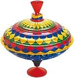 Large Humming Spinning Top ' Diamond Pattern' Tin Toy