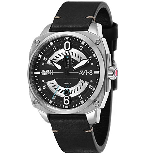 Montre Homme - AVI-8 - HAWKER HUNTER - Cuir - 45mm - AV-4057-01