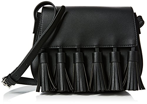 french-connection-damen-multi-tassel-brea-saddle-bag-umhangetaschen-schwarz-black-1-23x19x9-cm