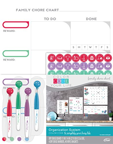 The Board Dudes 11 'X14'' Farbcode Your Life Chore Chart Organization System (Board Dudes)