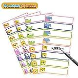 KIPEPO Namensaufkleber Aufkleber Wasserdicht Dauerhaft für Babycare Bottles Essen Gläser Lunchbox Stift (96 Etiketten Geschenkstift)