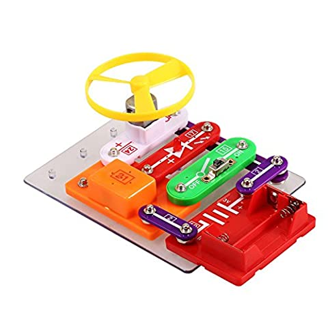 Smibie W-58 Elektro Baukasten pädagogisches Spielzeug,Elektronik-Baukasten Elektronik Set mit Experimenten Elektronik-Praxis DIY Schaltungen für (Wissenschaft Experimente Licht)