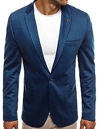 OZONEE Herren Sportsakko Sportliche Sakko Jackett Slim Fit Blazer Anzugjacke Business Anzug Kurzmantel BLACK ROCK 021