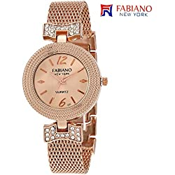 Fabiano New York Casual & Party-Wedding Rose Gold Metal Women & Girls Analog Wrist Watch