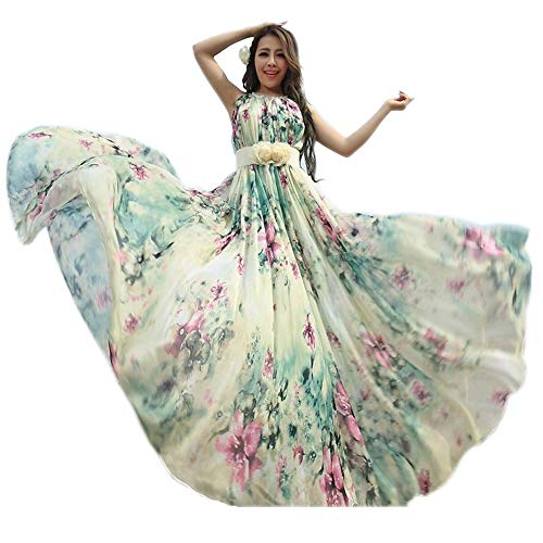 Robe légère. Robe d'été Medeshe pour femme. Style floral, plage. -  multicolore -