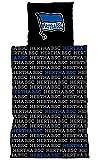 HERTHA BSC Linon-Bettwäsche 'Schriftzug' schwarz
