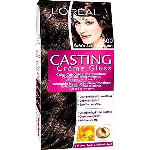 L'Oréal Paris Coloración sin Amoniaco Casting Créme Gloss 500 Castaño Claro - 600 gr