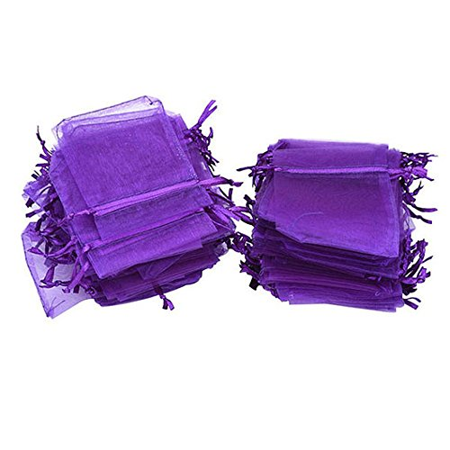 G2PLUS Hochzeit Säckchen Organza Beutel 100 Stück Saeckchen Organzabeutel 7 cm * 9 cm Vervollkommnen Sie als Hochzeit Bonbonsbeutel, schmuckbeutel Geschenk Beutel