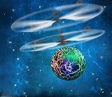 TWIFER EpochAir RC Fliegen Ball, RC Drone Helicopter Eingebaut LED Beleuchtung Jugendliche Bunte Flyings Kinder Spielzeug (15.5 * 11cm, Grün)