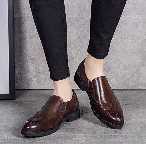 SHIXR Männer Oxford Brogue Business Herrenschuhe Britische Sets Of Feets Herrenschuhe High-Grade Leder Authentic Schuhe Breathable color