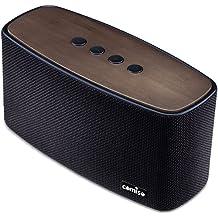 COMISO Altavoz Bluetooth Estéreo Premium 30W Con Radiador Pasivo, Bambú altavoz inalámbrico con Fuerte Bass Subwoofer para iPhone, iPad, Android Smartphones,Tablet, PC - Negro