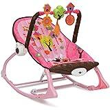 Babywippe, Stuhl Nature 2 in 1, verstellbar mit Spielbogen, Musik und Vibration