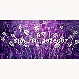 Hohe Qualität handbemalt Landschaft abstrakt Palette Lila Tulip Wandbild Ölgemälde House Living Room Art, canvas, violett, 24x48inch(60x120cm)