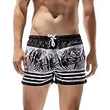 Manadlian Herren Shorts Badehose Badeshorts Block Trainingshose Sporthose für Männer Badehose Schnelltrocknend Surfen am Strand Laufen Schwimmen Wassershort