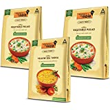 Kitchens of India Combo Pack - Yellow Dal Tadka (285g) and Vegetable Pulao (2 x 250g)
