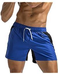 Logobeing Bañador Pantalones de Baño Transpirable Para Hombres Traje de Baño Pantalones Cortos de Playa Costuras de… Rf8Ge