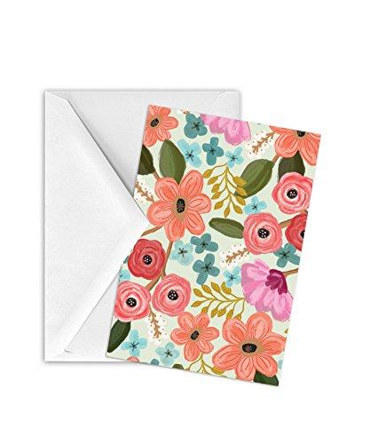 JILLSON Roberts 12Stück Geschenk Gehäuse Karten und Briefumschläge erhältlich in 10verschiedenen Designs, Gypsy Floral -
