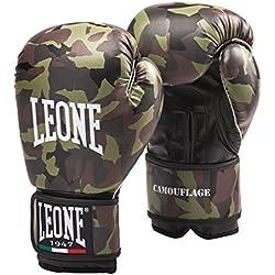 Guantes de boxeo Leone 10 onzas de camuflaje verde