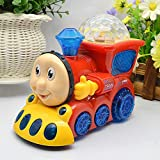 Tuski Toys For Kids Bump And Go Musical Engine Train With 4D Light And Sound Toy For Boys And Girls