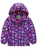 Echinodon Mädchen Gefütterte Outdoorjacke Wasserdicht/Winddicht/Warm Regenjacke Funktionsjacke Kinder Wanderjacke Jacke Violett