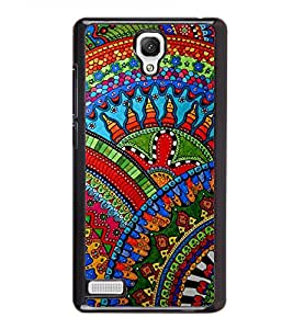 Fiobs Designer Back Case Cover for Xiaomi Redmi Note :: Xiaomi Redmi Note 4G :: Xiaomi Redmi Note Prime (jaipur rajasthan african america cross pattern)