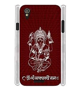 Om Ganesha Soft Silicon Rubberized Back Case Cover for Lava Iris X1 Mini