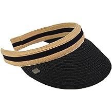 VECRY Donna Golf Visiera Sportiva Cappello Spiaggia Paglia Estate Visiere  Berretto b70898e3bd2a