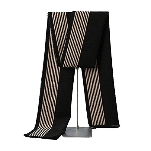 YANXH Herbst und Winter halten warme Schal Männer High-End-Streifen Mode Schal , 32*180cm (Lila Ringe Box Schal Schmuck)