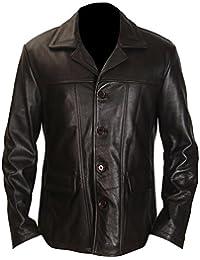 classyak Veste pour homme fashion Bauer en cuir véritable de haute qualité 2682dd01a2a2
