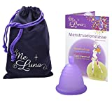 Me Luna Menstruationstasse Classic, Kugel, Violett, Größe Shorty XL