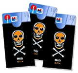 Originelle Kartenhülle cardbox Giftbox Motiv: Totenkopf /// 3er SET /// Hülle für Plastikkarten = Führerscheine, ePersos, Kundenkarten, ec-Karten uvm.