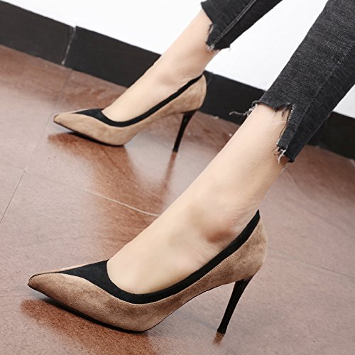 Flyrcx Personnalité Élégante Orthographié Mince Talon Talon Haut Talon Haut Chaussures Dames Chaussures D