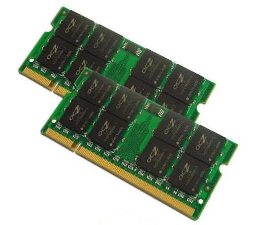 OCZ DDR2 PC2-5400 Arbeitsspeicher SODIMM 3GB Kit (1x 1GB + 1x 2GB, 667MHz, CL5) -