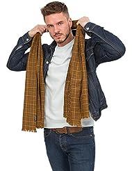Écharpe à carreaux en laine de mérinos tissée à la main
