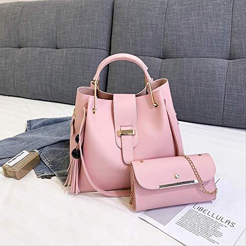 Großhandel 2019 Neue Mode Damen Tasche Europäischen Und Europäischen Hundert-Kind Weibliche Tasche Big Bag Damen Handtasche Ein-Schulter Schrägtasche Gezeiten Rosa